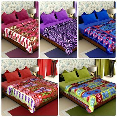 Pack of 5 Designer Printed Double Fleece Blanket-CA_1208
