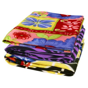 Pack of 3 Designer Printed Double Fleece Blanket-CA_1211