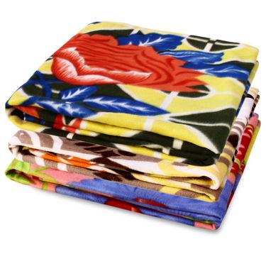 Pack of 3 Designer Printed Double Fleece Blanket-CA_1214