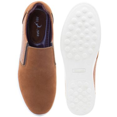 Randier Synthetic Leather Tan Casual Shoes -Cfl013