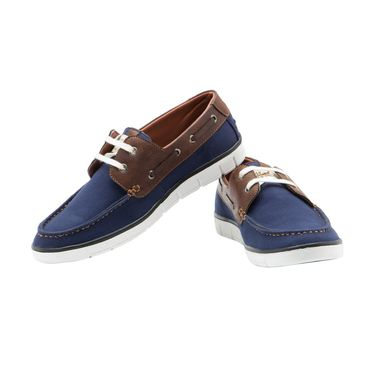 Randier Canvas Blue Casual Shoes -Cfl027