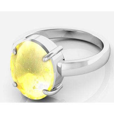 Kiara Jewellery Certified Sunehla 3.0 cts & 3.25 Ratti Citrine Ring_Citrw