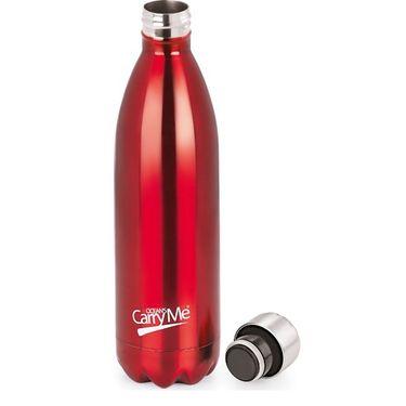 CarryMe Aqua Hot & Cold Flask 1000 ml Bottle - Red