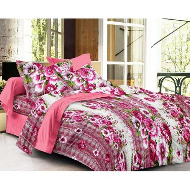 Storyathome 100% Cotton Double Bedsheet With 2 Pillow Cover-CN1246