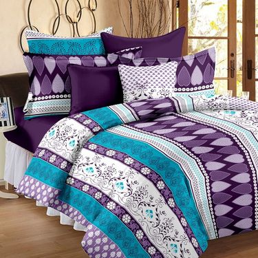 Set of 2 Double Bedsheet with 4 Pillow Cover-1401-1231