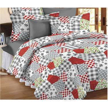 Set Of 2 Double Bedsheet With 4 Pillow Cover-CN_1229-CN1256