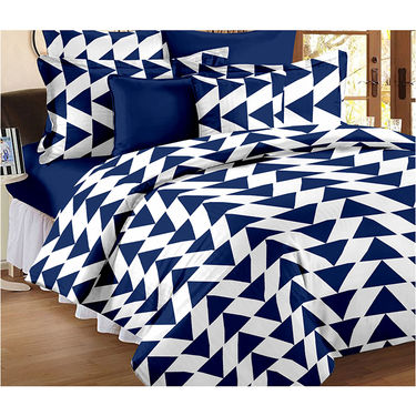 Set Of 2 Double Bedsheet With 4 Pillow Cover-CN_1402-PL1107
