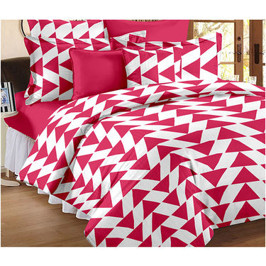Set Of 2 Double Bedsheet With 4 Pillow Cover-CN_1404-CN1260
