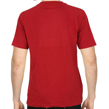 Pack of 2 Blended Cotton Tshirts For Men_Combo 6 - Red & Blue