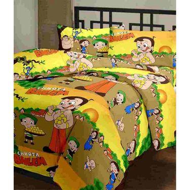 eCraftIndia Set of 2 Designer Printed Single Bed Reversible AC Blanket-COMHFD106