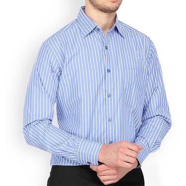 Copperline Stripes Full Sleeves Cotton Shirt For Men_cpl1011 - Blue & White