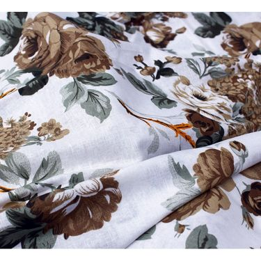 Bedspun 100% Cotton Double Bedsheet With 2 Pillow Covers-CR1404