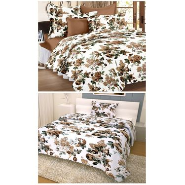 Storyathome 100% Cotton Double Bedsheet & 1 Single Bedsheet With 3 Pillow Cover -CR_1404-HY1407
