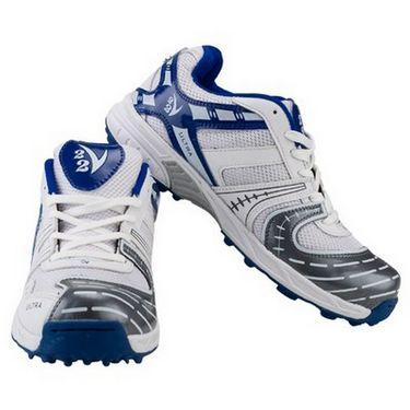 V22 Ultra Cricket Shoes  White & Blue Size - 10