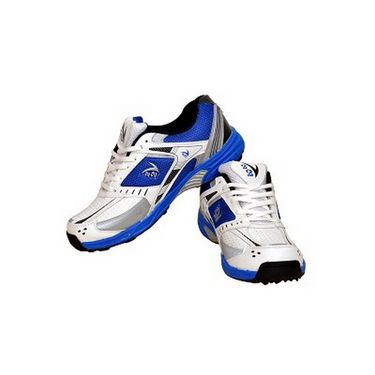 V22 Cricket Stud Shoes  Blue & White Size - 8