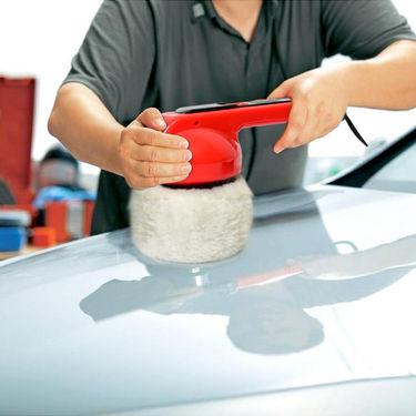 Branded Car Mini Waxing & Polishing Machine (Red & Black)