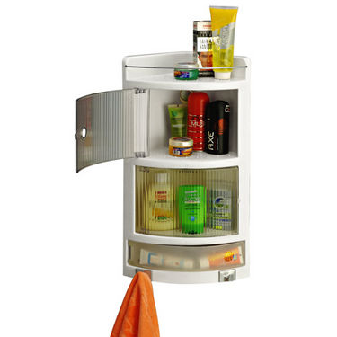 Cipla Plast Crystal Corner Cabinet - BRC-716-WH