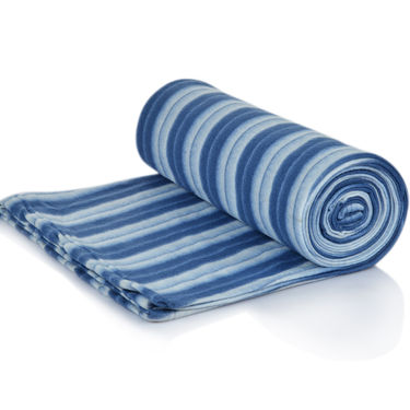 Set of 5 Cabana Stripes Fleece Blankets