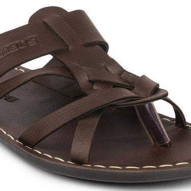 Columbus Synthetic Leather Brown Sandals -2507