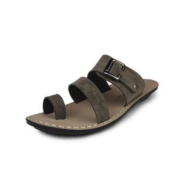 Columbus Suede Mehndi Sandals -2515