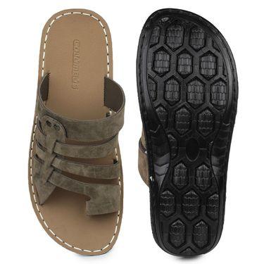 Columbus Synthetic Leather Mehndi Sandals -2602