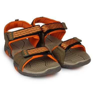 Columbus PU Brown & Orange Casual Floaters -Ab-773
