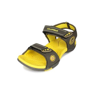 Columbus PU Green & Yellow Casual Floaters -Ab556