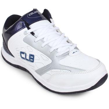 Columbus White & navy Sports Shoe C23