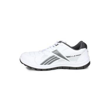 Columbus White & Grey Sports Shoe C26