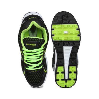 Columbus Black & Green Sports Shoe C15
