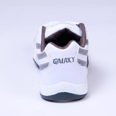 Columbus PU Sports Shoes - White & Grey-1553