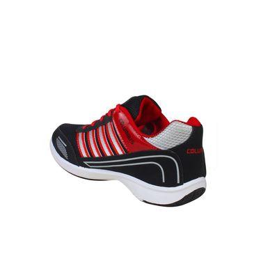 Columbus Mesh Sports Shoes Tab-1115 -Black & Red