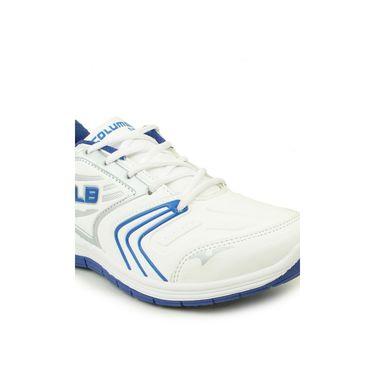 Columbus White & Blue & Grey Sports Shoe C22