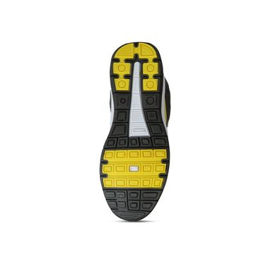 Columbus Grey & Blue & Yellow Sports Shoe C11