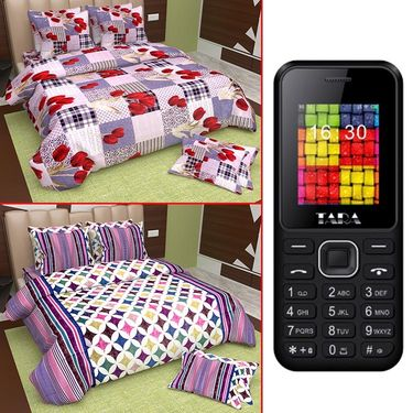 �Set of 2 Queen Size Cotton Bedsheet with Free Mobile-osai-5