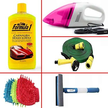 Restore Beauty With Combo of 5 Car Cleaning Accessories