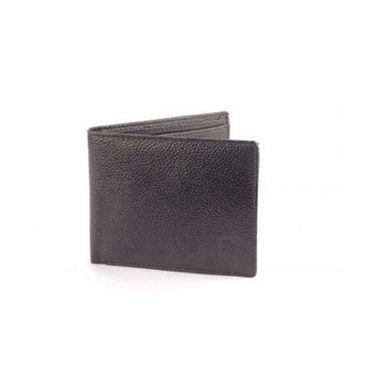 Combo of Fidato Backpack - Black + Belt + Leather Wallet-5283