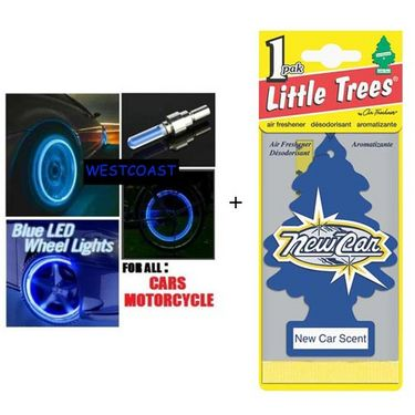 Combo of Flash Wheel Lights + Car/Home FRESHNER