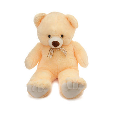 48 Inches Teddy Bear with Heart Shape Pillow - Cream