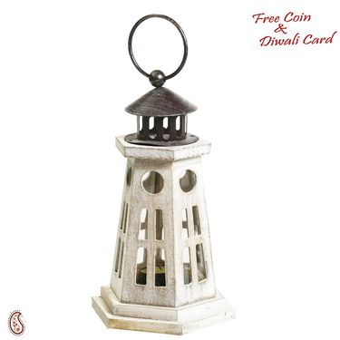 Light House Design Lantern made in wood