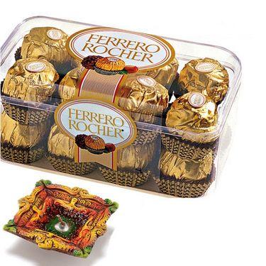 16 Pc Ferrero Rocher with Terracotta Diya_DCHO02