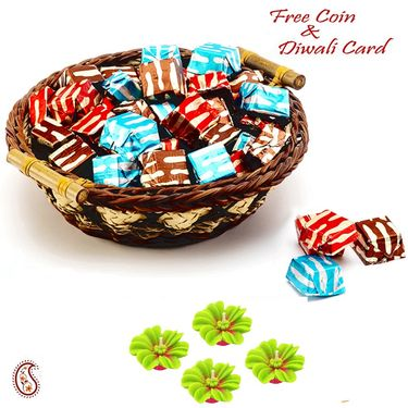 Aapno Rajasthan Homemade Chocolates Pack with Basket