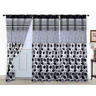 Storyathome Set of 3  Door curtain-7 feet-DCL_3-1005