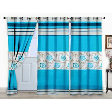 Storyathome Set of 3  Door curtain-7 feet-DCL_3-1010