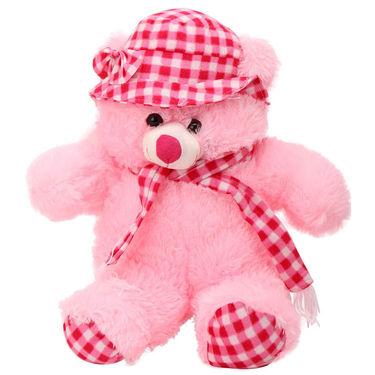 Kaku Loveable Teddy with Cap & Holding Muffler_DKK-21