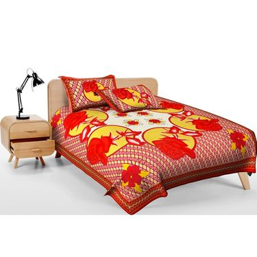 Set of 2 Jaipuri Print Double Bedsheets with 4 Pillow Covers-DEAL2008