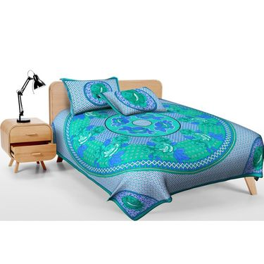 Set of 2 Jaipuri Print Double Bedsheets with 4 Pillow Covers-DEAL2010