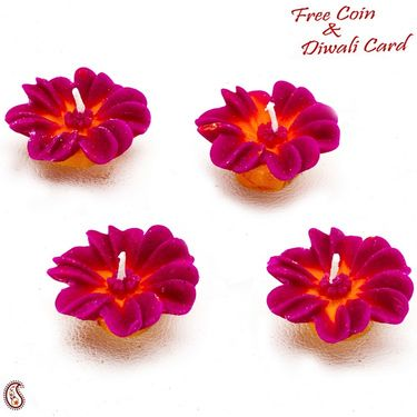Flower Wax Candle Dyas- Set of 4