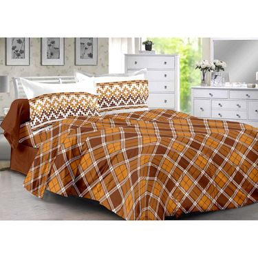 Valtellina 100% Cotton Double Bedsheet with 2 Pillow Cover-3005-E