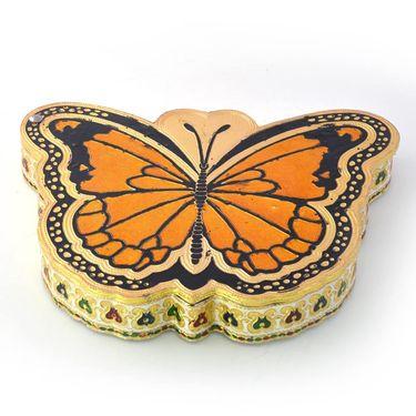 Little India Butterfly Shape Jaipuri Gold Minakari Dryfruit Box 428